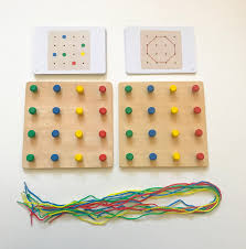 Wooden Peg Board Game Montessori Wooden Peg Boards Game Jolly B Kids 27
