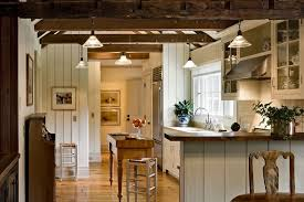 farmhouse kitchen lighting. Farmhouse Kitchen Lights With Exposed Beams Wood Floors Vertical Panels Lighting