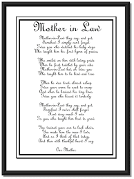 Wedding Day Mother In Law Poem Diy Printable Poem Christmas Gifts