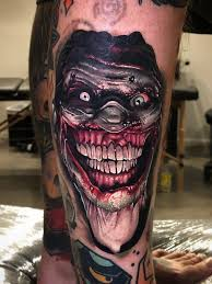 But nope, the man got smacked by barbeque equipment. Demon Joker Skull Tattoo Novocom Top