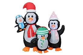 animated christmas penguins. Delighful Penguins 5 Foot Christmas Inflatable Penguins Family Yard Decoration Intended Animated N