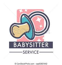 Babysitter Logo Babysitter Service Company Caring For Children Logo Of Nanny Vector