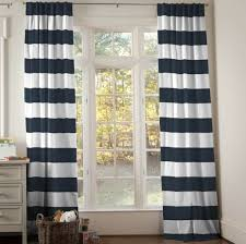 Home Decoration: Amazing Dark Gray And White Tall Horizontal Striped  Curtains Ideas - Horizontal Stripe