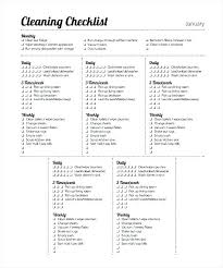 Examples Of Cleaning Schedules Weekly Cleaning Schedule Template Excel Monthly Daily