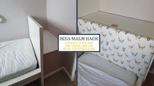an ikea malm bed headboard ikea hack