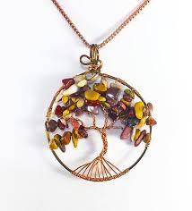 wire wrap tree of life pendant tree of
