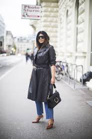 fashion landscape com how to weear a leather trench wearing vintage