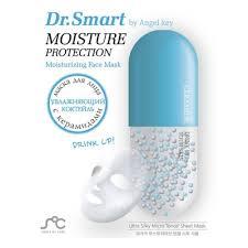 Тканевая <b>маска для лица Dr. Smart</b> by Angel Key Увлажняющая, с ...