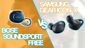 bose truly wireless earbuds. bose soundsport free vs samsung gear iconx 2018 \u2013 truly wireless earbuds