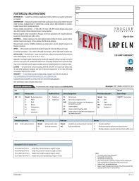 Lithonia Lrp Exit Lights Lrp El N Exit Sign Warehouse