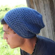 Hipster Beanie Crochet Pattern Fascinating Mens Beanie Slouch Beanie Crochet From SoLaynaInspirations On