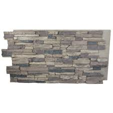 superior building supplies cliff grey 24 in x 48 in x 1 1 4 in faux grand heritage stack stone panel hd col2448 cg the home depot