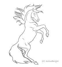 rearing horse drawing step by step. Simple Drawing Line Drawings Hoeses  Horse Rearing Lineart By SolinaBright On DeviantART Throughout Drawing Step By R