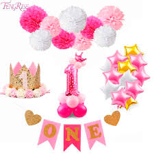Fengrise 1st Birthday Party Decor 1 Year One Newborn First