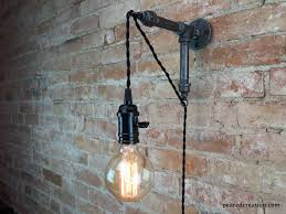 home wall lighting. Industrial Wall Sconce - Pendant Edison Hanging Lamp Bulb \u2013 Peared Creation Home Lighting