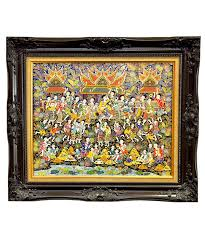 benjarong frame picture 20 x 16 inch