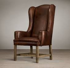 leather wingback dining chair. fine wingback belfort wingback leather dining chair rh black oak drifted italian inside foter