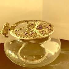 Rawcliffe Jewelry | Potpourri <b>Trinket</b> Bowl <b>Pewter</b> Lid <b>Rabbit</b> ...