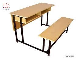 school classroom furniture students wooden desk bench