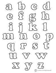 lowercase bubble letters alphabets