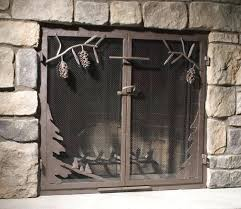 mesh door fireplace screens screen installation material spark rod kit