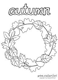 Small Picture Autumn wreath coloring page Print Color Fun