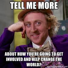 tell me more about How you're going to get involved and help ... via Relatably.com