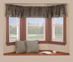 Interior:Bay Windows Design With Small Curtain Decor Simple Bay Windows  Decor With Small Curtain