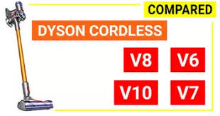 Dyson V6 V7 V8 Comparison Chart Compare Dyson Cordless Best Dyson Cordless Stick Vacuum 2019