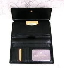 aigner leather checkbook wallets for women