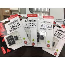 Thẻ Nhớ Kingston Micro Sdhc Tf 8 G 32 G 64 G 128 G 256 G Class 10, Giá  tháng 11/2020