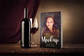 kindle paperback book 3d mockup 5 x 8 paperback book mockup with wine gl