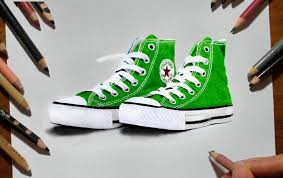converse shoes drawing. green sneakers converse colored pencil drawing - speed draw | jasmina susak youtube shoes