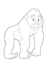 Kleurplaten Met Apen En Gorillas Tijd Met Kinderen