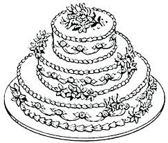 Cake Printable Coloring Pages Birthday Page Colouring Of Cakes A Pdf