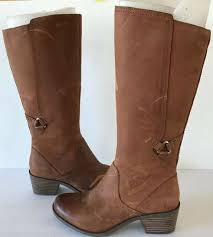 teva size 8 foxy tall brown distressed oiled leather boots womens shoes