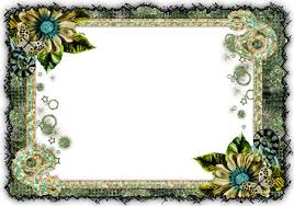 flowers photo frames designs.