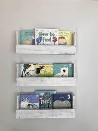 bookshelves set of 3 nursery decor wood