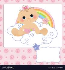 baby postcard cute template for baby postcard royalty free vector image