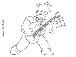 Small Picture Homer playing the guitar coloring pages Hellokidscom
