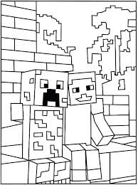 Minecraft Coloring Pages To Print Coloring Page Creeper Coloring