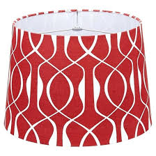 red and white lamp shades linen lamp shade red white red large lamp shades