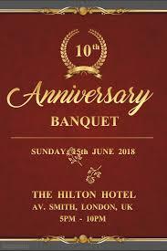 Formal Anniversary Banquet Dinner Event Invitation Flyer Template