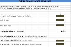 Bank Reconciliation Statement Excel Format Project Management Excel