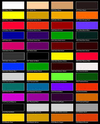 Yellow Car Paint Chart 52 Most Popular Deltron Paint Color Chart