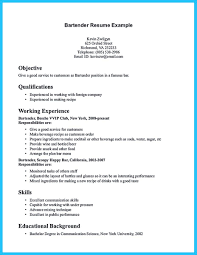 Bar Resume Examples