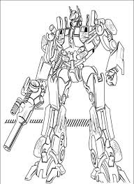 Small Picture Optimus prime coloring pages with gun ColoringStar