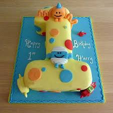 Happy Birthday Toddler Cake 2kg Eggless Butterscotch Gift 1st