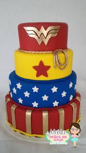 Resultado de imagem para bolo festa mulher maravilha