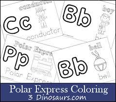 Free Polar Express Coloring 3 Dinosaurs